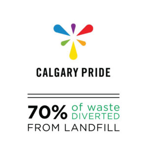 calgary pride parade festival calgary waste diversion green event services