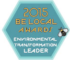 Be Local Awards Environmental Transformation Leader 2015